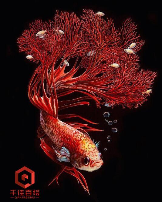 墙绘素材,海洋鱼类墙绘素材,珊瑚鱼类墙绘素材,抽象鱼素材,墙绘鱼